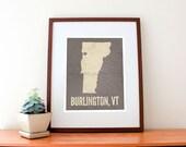 Burlington, Vermont Love Print