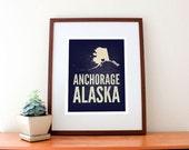 Anchorage, Alaska Love Print