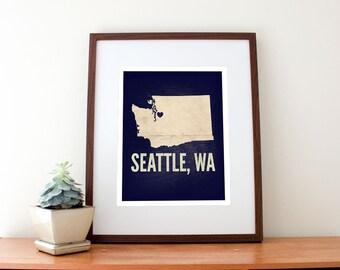 Seattle, WA Love Print