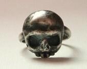 RESERVED:  Sterling Memento Mori Ring