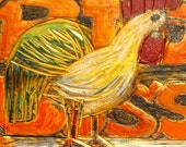"""Novelty-Shaped Sign - Big Boss - A Bas relief and sign of a a crowing rooster letting everybody know that he is the """"Big Boss"""""""