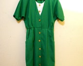 80's Kelley Green Pinup Sailor Dress
