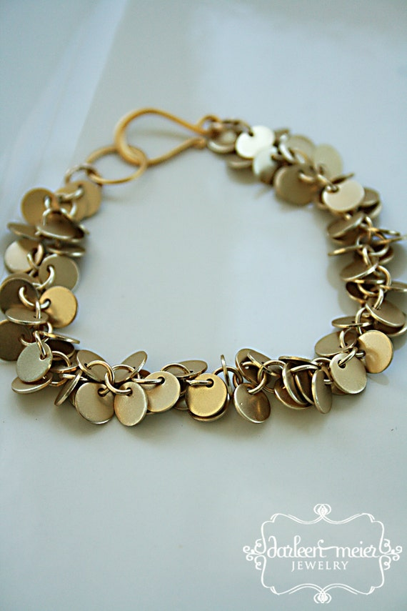 EDIE tiny gold circle chain cluster bracelet