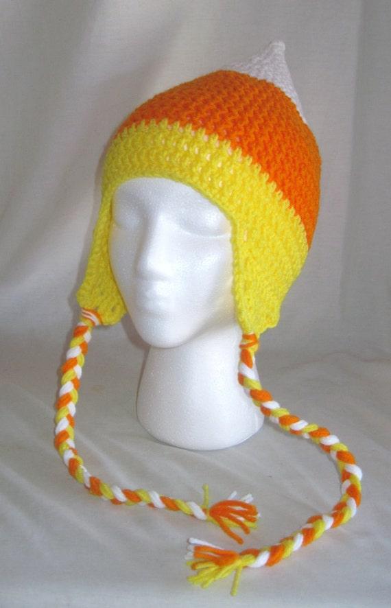 Candy Corn Crochet Cap