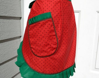 Women's Half Apron - Summer Watermelon Slice