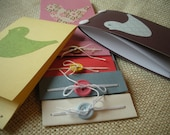 Bird Blank Card Set of 5  and Notebook, Gift Set with Reusable Fabric Gift Bag