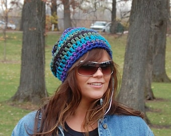 Cool Crochet Slouchy Hats for Men and Women,  Winter Accessories from Midwest Crochet