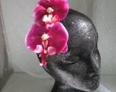 Hot Summer Nights Pink Orchid Rhinestone Flower Fascinator