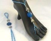 Blue Butterfly Barefoot Sandals
