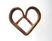 Rusty Old Heart Branding Iron love rust western decor for the cowboy cowgirl rustic wedding decor heart metal heart