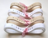 Personalized Twill Ribbon / 2 YARDS personalised ribbon