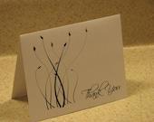 Elegant Foliage Thank You Card