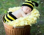Newborn Bumble Bee Diaper Cover Set
