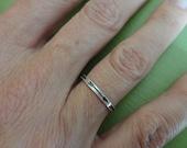 Custom Narrow Arrow Band Ring