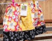 Custom Order Spring Twirl Skirt - Pink, Yellow, Black Hawaiian Inspired, Size 8