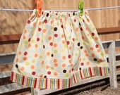 Spring Twirl Skirt - Polka Dots and Stripes, 3T