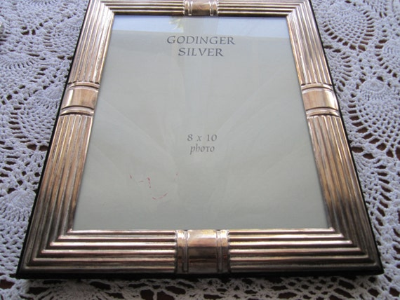 reserved for AMY Godinger silver plated 8X10 picture frame