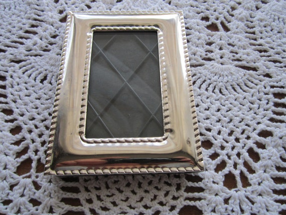 reserved for AMY Silverplated picture frame 2X3