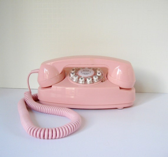 Vintage Cotton Candy Pink Telephone