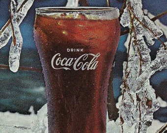 SALE-Vintage Coca Cola Ads-Mid Century Instant collection 50s  60s 7x10 inch  18 x 25 cm
