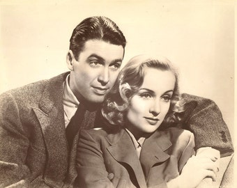 "Carole Lombard Jimmy Stewart 2 Photos- Retro Hollywood Glam 8"" x 10"""