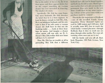 Vintage Housewife Ad- Wild 1930 Housewives- 10 x 13 inch   25 x 33   cm