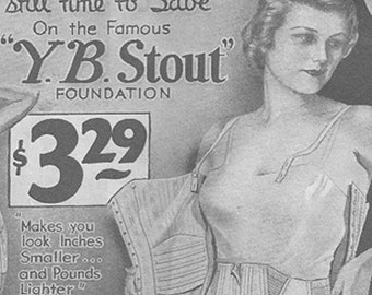 SALE- Vintage Womens Fashion- Original 1934 Sears Catalog- Advertising- 6 x 9 inches