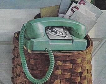 Princess Phone Ads- Vintage Collection- Retro Midcentury Decor- 7 x 10 inch 18 x 25 cm