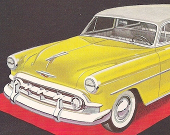 Midcentury Car Ads- Retro Advertising Collection 8 x 11 inch 20 x 28 cm- Frame as Art