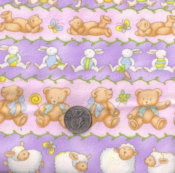 Sale cotton flannel fabric kids nursery baby teddy bear for Nursery print fabric