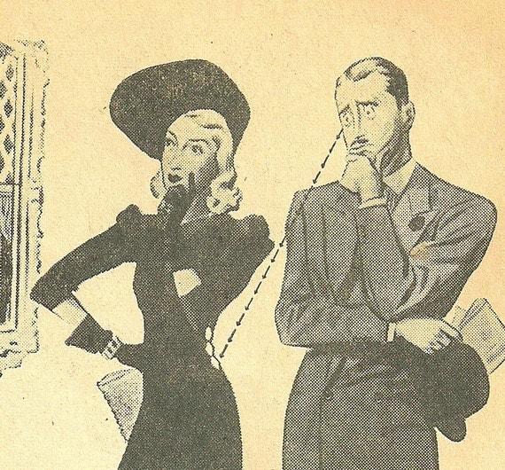 Vintage Fashion Catalog- Retro 40s Fashion Ads- McCalls January 1941