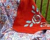Roses in Reverse Baby Blanket