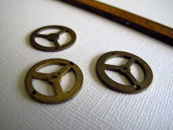 Brass Clock Gears - Perfect for Steampunk Jewelers, Altered Art Artists and Mixed Media Mavens G147