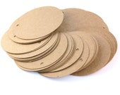 100 Die Cut Circle Gift Tags / Price Tags (2.5 inches) in Brown Kraft Paper Cardstock