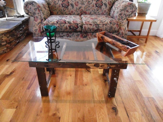 Items similar to repurposed ladder coffee table or ask for Ladder coffee table
