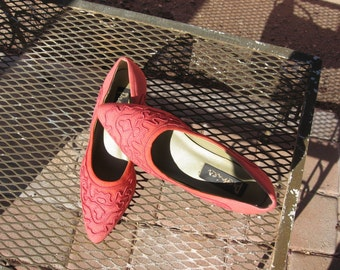 Dressy coral shoes