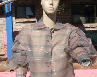 Dressy organdy blouse, about size 8