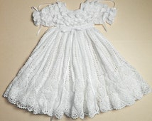 White Christening Gown with White Cotton Slip - MADE TO ORDER