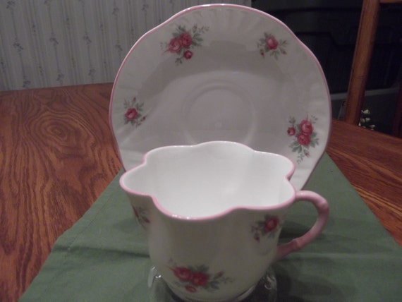 Crown Staffordshire cup and saucer titled Sweetheart Rose circa 1950's-  250
