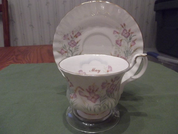 50% OFF-  Royal Albert cup & saucer Wild Flower of the month series (May) called Lady's Smock circa 1980's  -678