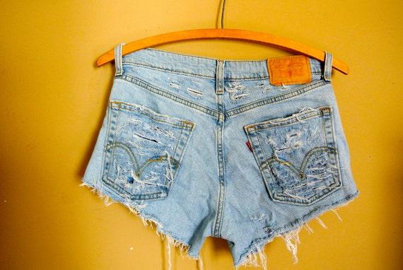 SALE: Levi Super Distressed Shorts
