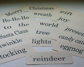 Flash Cards Vintage Look - Christmas - 40 Count