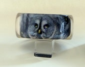 Owl Bangle Bracelet. Hand crafted with bird photo by heronsfeathers on etsy.