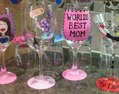 CUSTOM LISTING - Personalized Wine Glasses