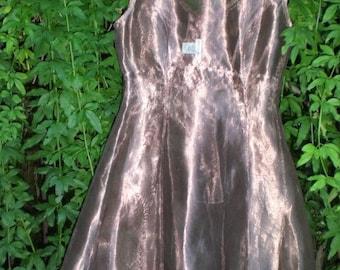 Party Dress in Metallic Copper Silk Organza
