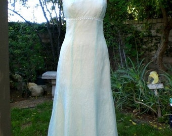 Something Blue Pretty Daytime Wedding Dress Non-Traditional Garden Party Ready to Ship