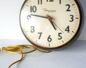 retro school or office wall clock