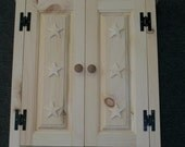Wall Cupboard  With Stars  Unfinished