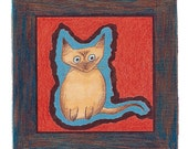 Set of 4/Kitten Ceramic Tile Coasters