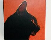Canvas Print of Original Black Cat Photo